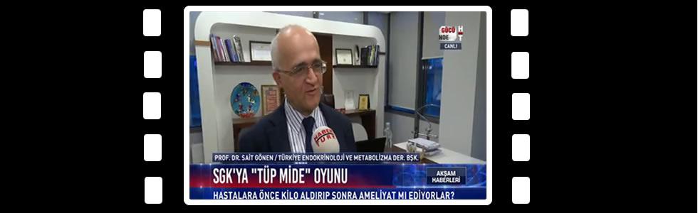 Prof. Dr. Sait GÖNEN HaberTürk TV Obezite, Tüp Mide Ameliyatları